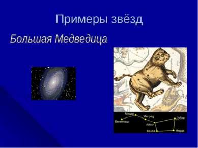 Примеры звёзд Галактика в созвездии Большая Медведица