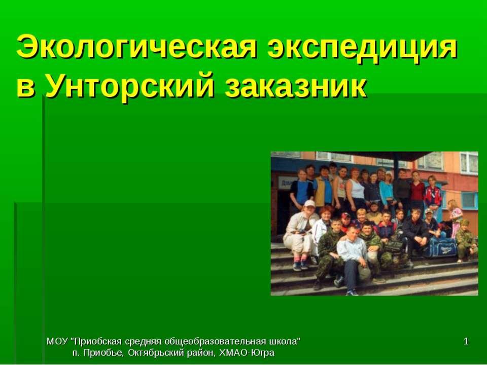 """МОУ """"Приобская средняя общеобразовательная школа"""" п. Приобье, Октябрьский рай..."""