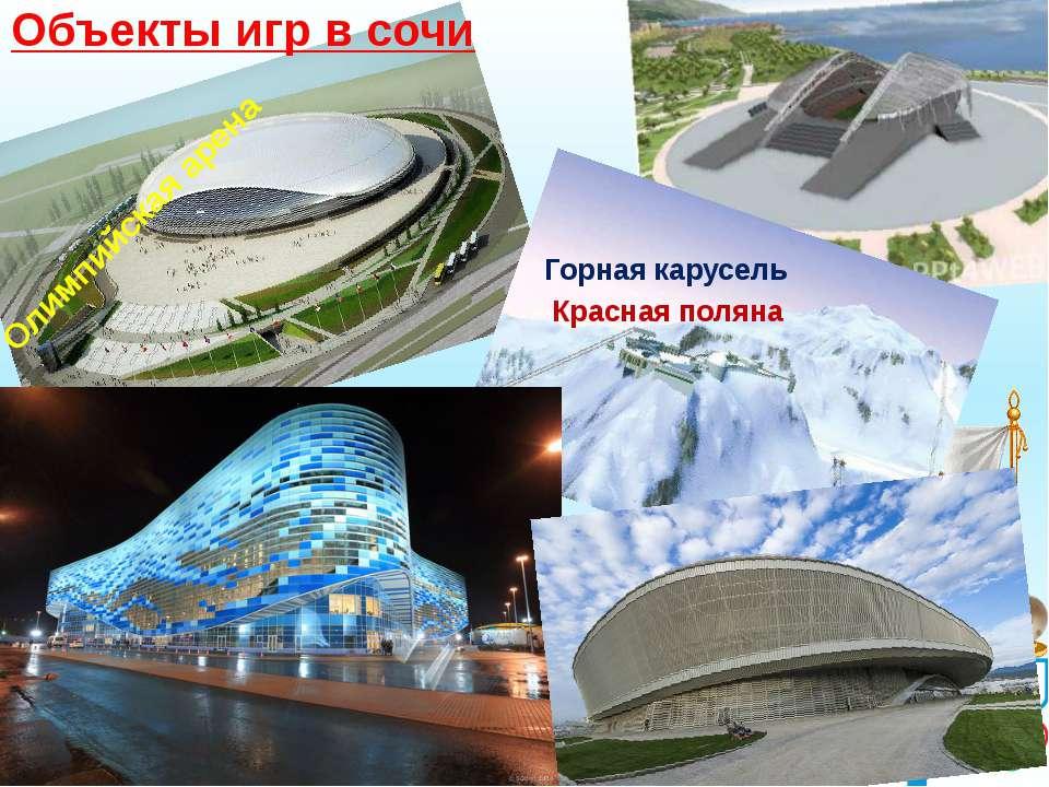 Объекты игр в сочи Горная карусель Красная поляна Олимпийская арена