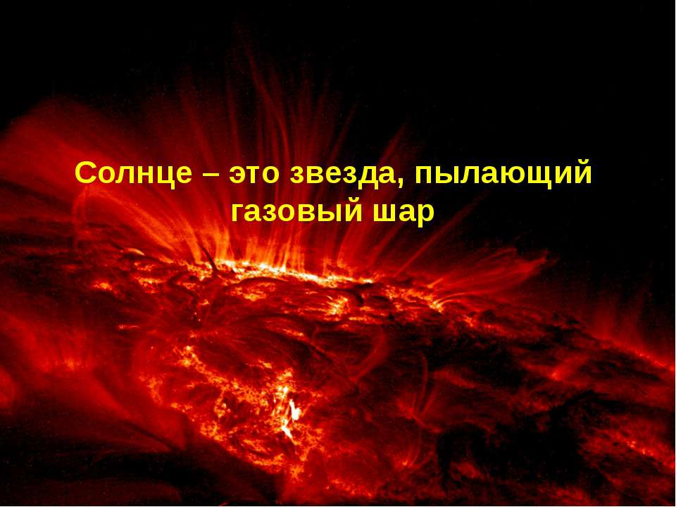 Солнце – это звезда, пылающий газовый шар