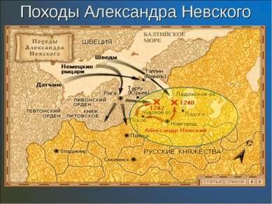 Походы Александра Невского