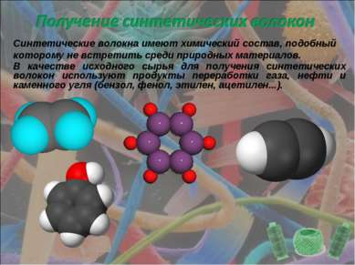 Синтетические волокна имеют химический состав, подобный которому не встретить...