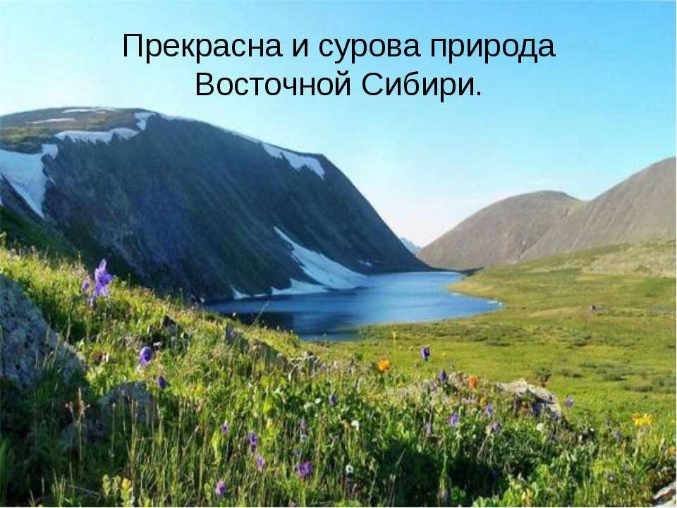 Прекрасна и сурова природа Восточной Сибири.
