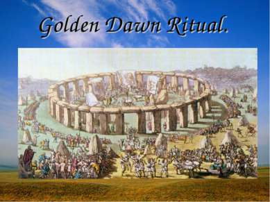 Golden Dawn Ritual.