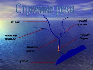 устье исток правый приток левый приток правый берег левый берег