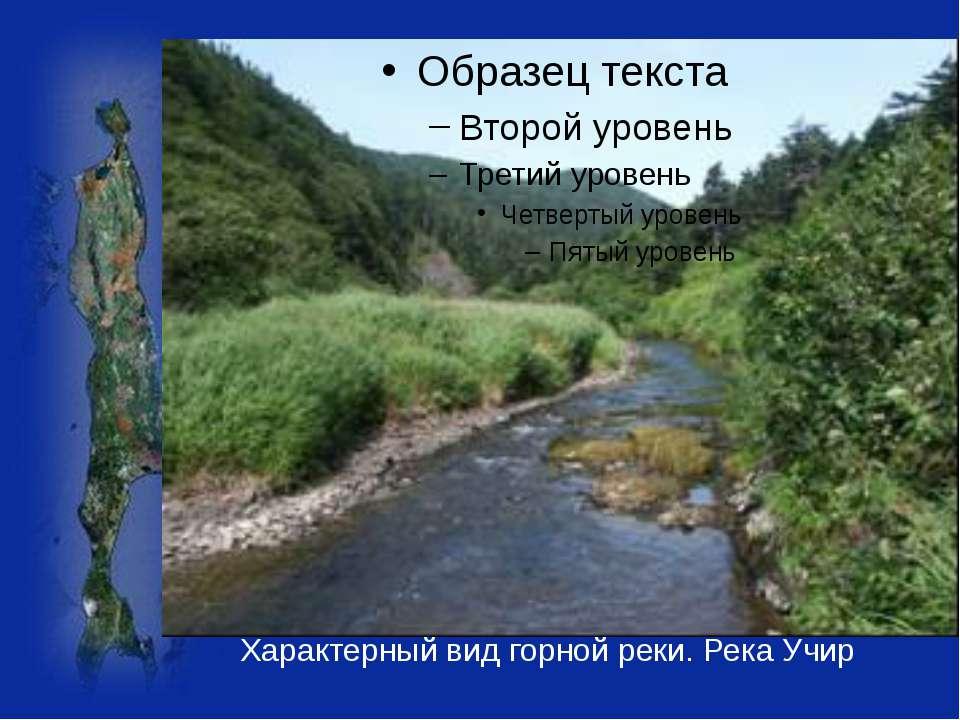 Характерный вид горной реки. Река Учир