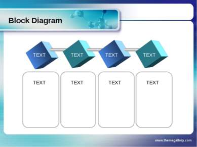 www.themegallery.com Block Diagram TEXT TEXT TEXT TEXT TEXT TEXT TEXT TEXT ww...