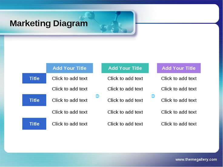 www.themegallery.com Marketing Diagram Add Your Title Add Your Title Add Your...