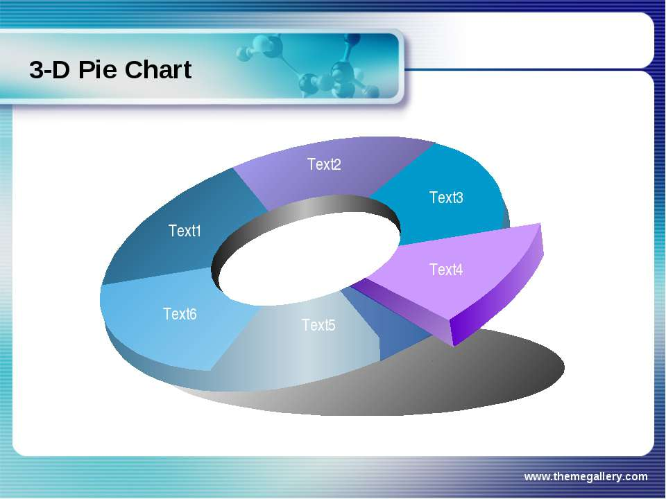 www.themegallery.com 3-D Pie Chart www.themegallery.com