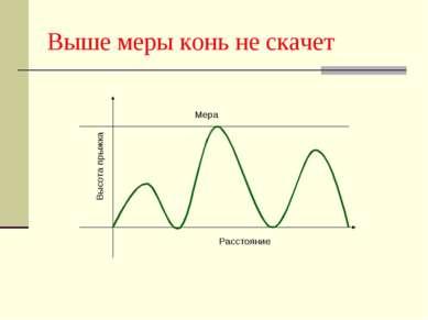 Выше меры конь не скачет Расстояние Мера Высота прыжка