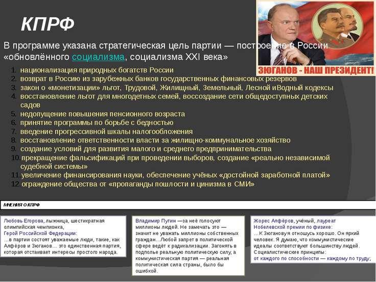 программа любой политической партии