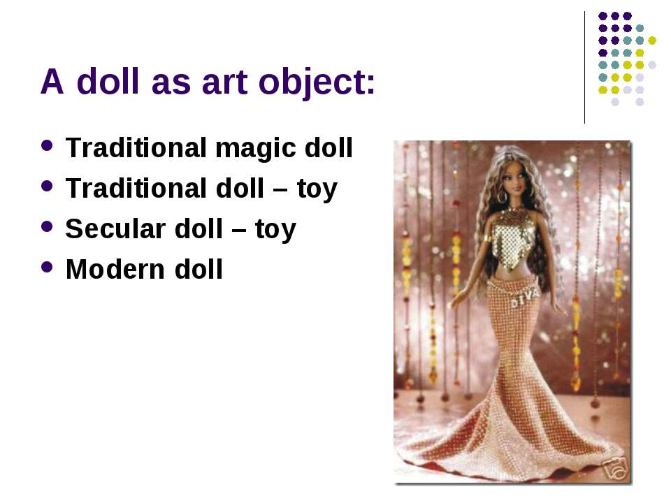 A doll as art object: Traditional magic doll Traditional doll – toy Secular d...