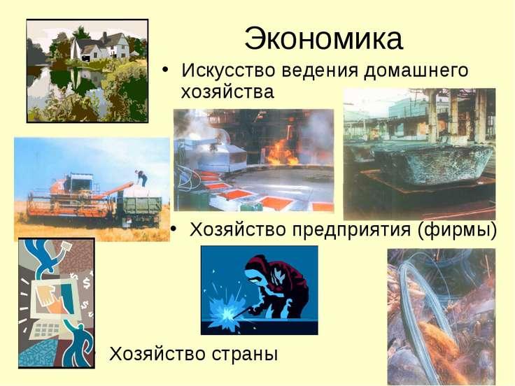 Экономика Искусство ведения домашнего хозяйства Хозяйство предприятия (фирмы)...