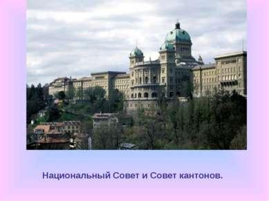 Национальный Совет и Совет кантонов.