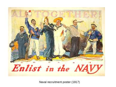Naval recruitment poster (1917)