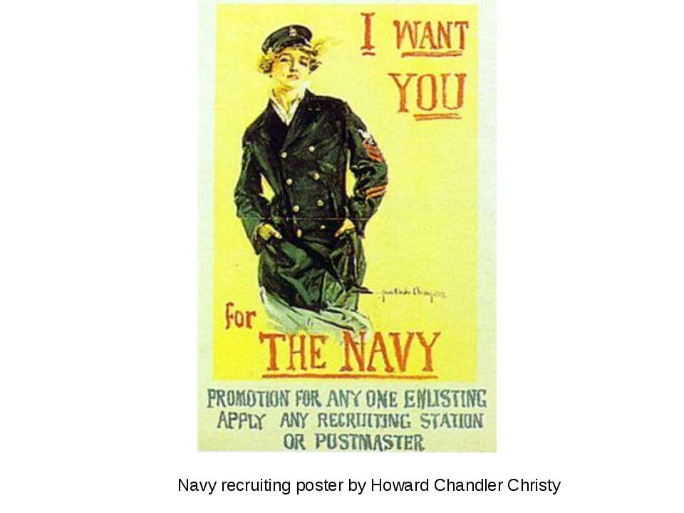 Navy recruiting poster by Howard Chandler Christy