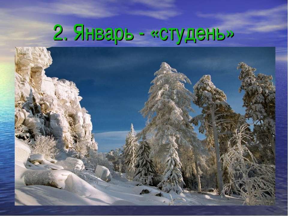 2. Январь - «студень»