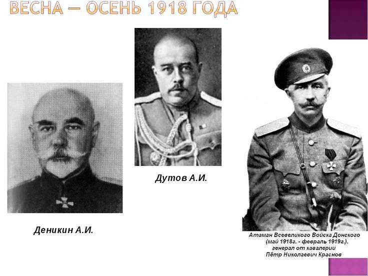 Деникин А.И. Дутов А.И.