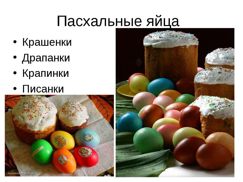 Пасхальные яйца Крашенки Драпанки Крапинки Писанки