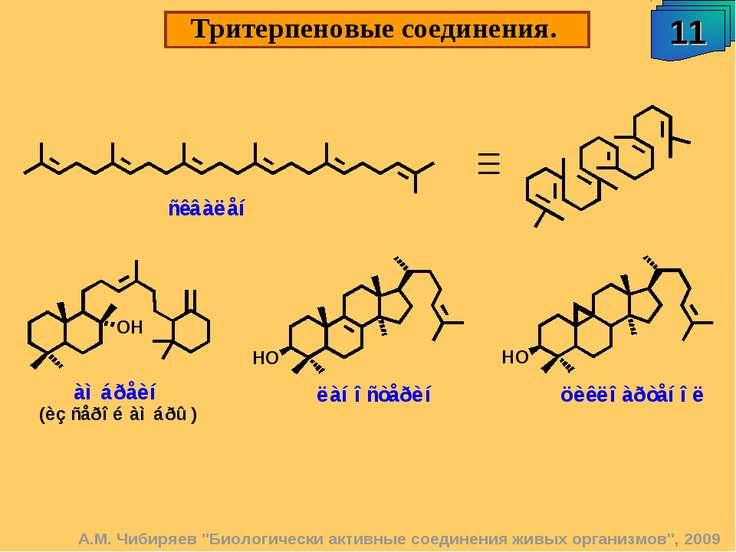 """Тритерпеновые соединения. 11 А.М. Чибиряев """"Биологически активные соединения ..."""