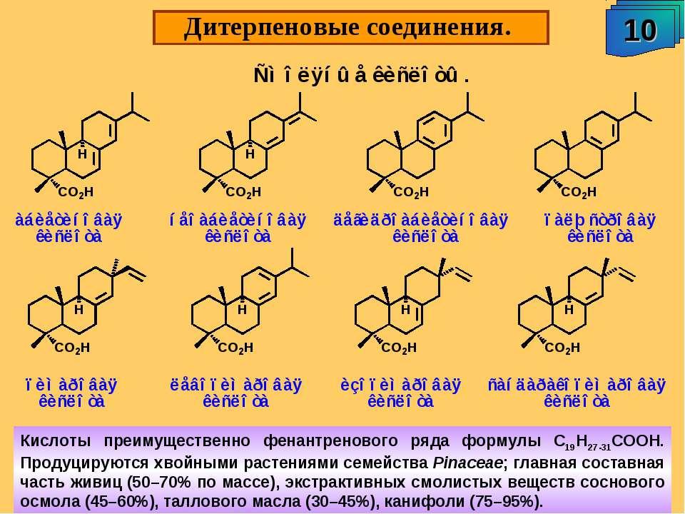 """Дитерпеновые соединения. 10 А.М. Чибиряев """"Биологически активные соединения ж..."""