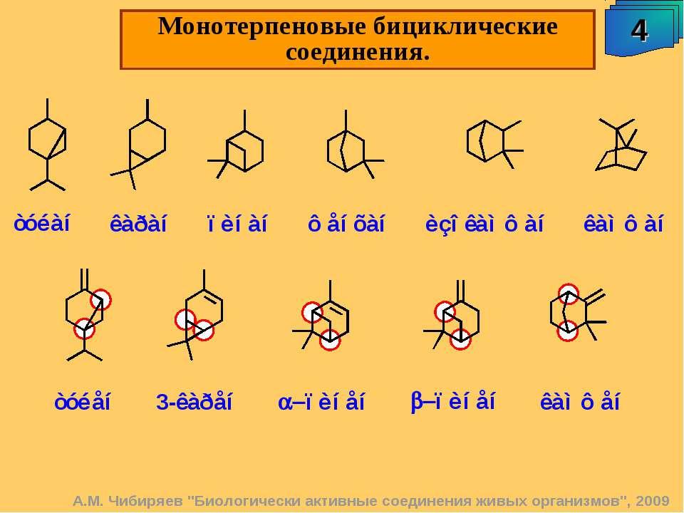 """Монотерпеновые бициклические соединения. 4 А.М. Чибиряев """"Биологически активн..."""