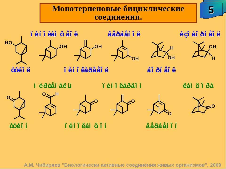 """Монотерпеновые бициклические соединения. 5 А.М. Чибиряев """"Биологически активн..."""