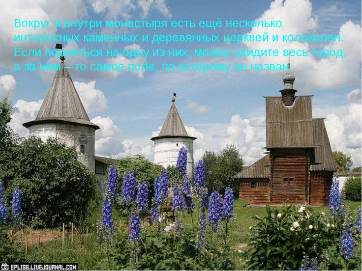 Вокруг и внутри монастыря есть ещё несколько интересных каменных и деревянных...