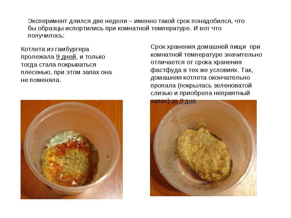 Эксперимент длился две недели – именно такой срок понадобился, что бы образцы...