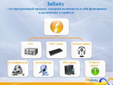 Infinity – это программный продукт, который включается в себя функционал клас...