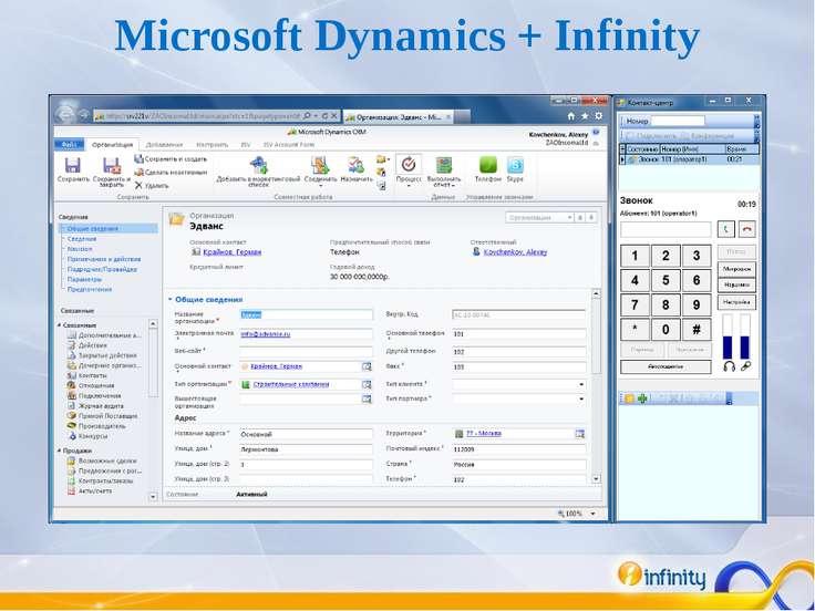 Microsoft Dynamics + Infinity