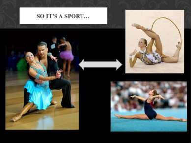 SO IT'S A SPORT…