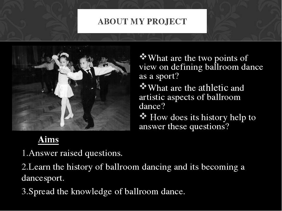 What are the two points of view on defining ballroom dance as a sport? What a...