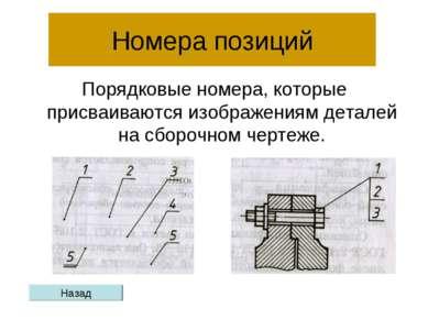 Номера позиций Порядковые номера, которые присваиваются изображениям деталей ...