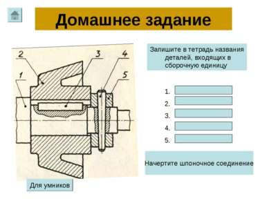 1. 2. 3. 4. 5. Запишите в тетрадь названия деталей, входящих в сборочную един...