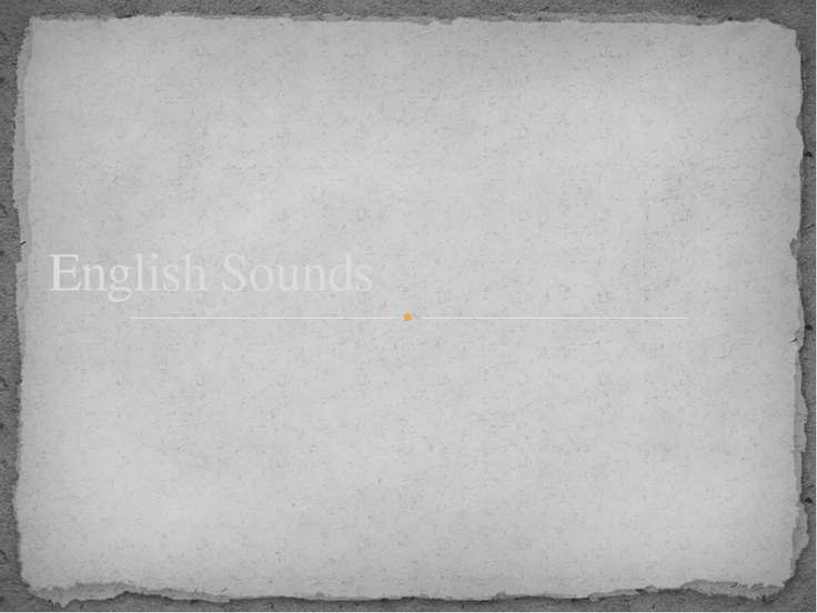 English Sounds