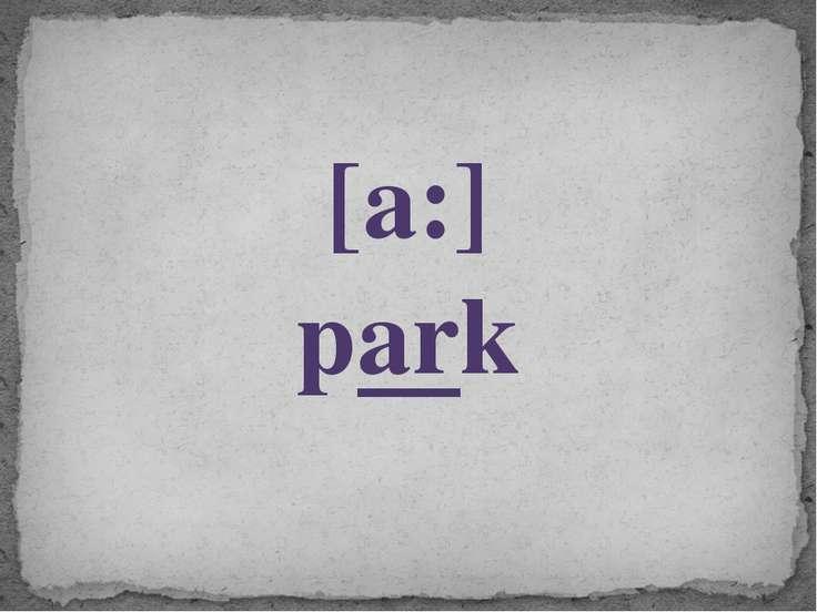 [a:] park