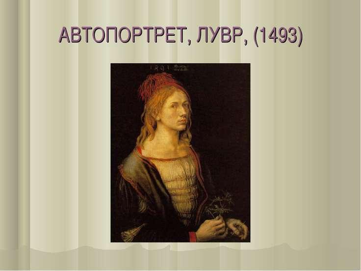АВТОПОРТРЕТ, ЛУВР, (1493)