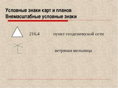 Условные знаки карт и планов Внемасштабные условные знаки 216,4 пункт геодези...