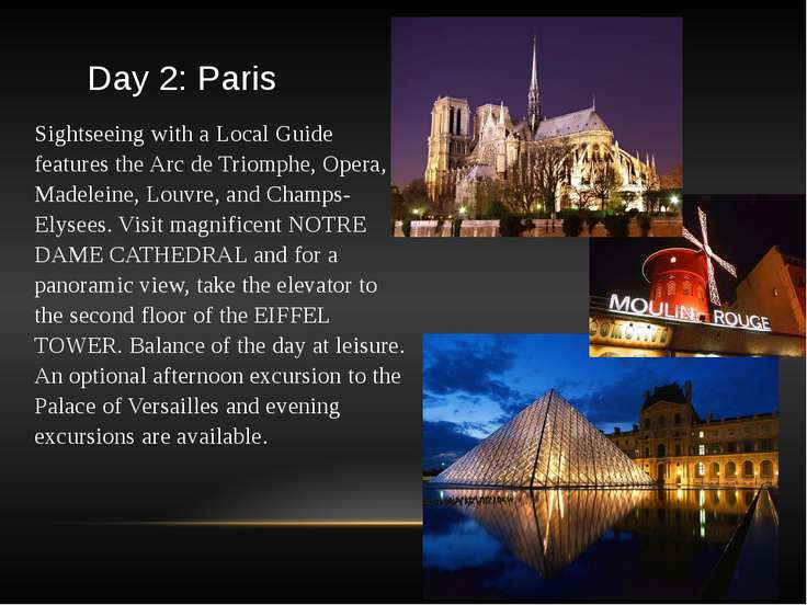 Day 2: Paris Sightseeing with a Local Guide features the Arc de Triomphe, Ope...