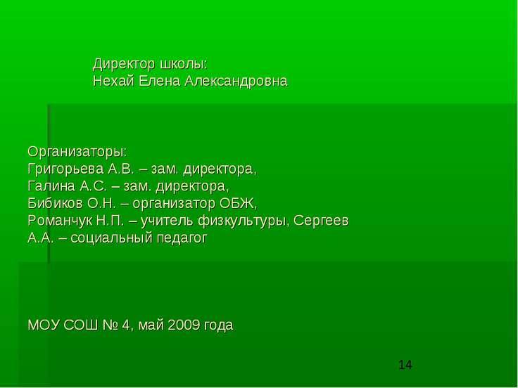 Организаторы: Григорьева А.В. – зам. директора, Галина А.С. – зам. директора,...