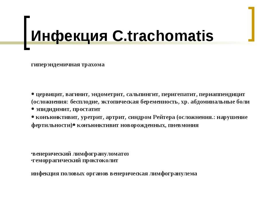 Инфекция C.trachomatis