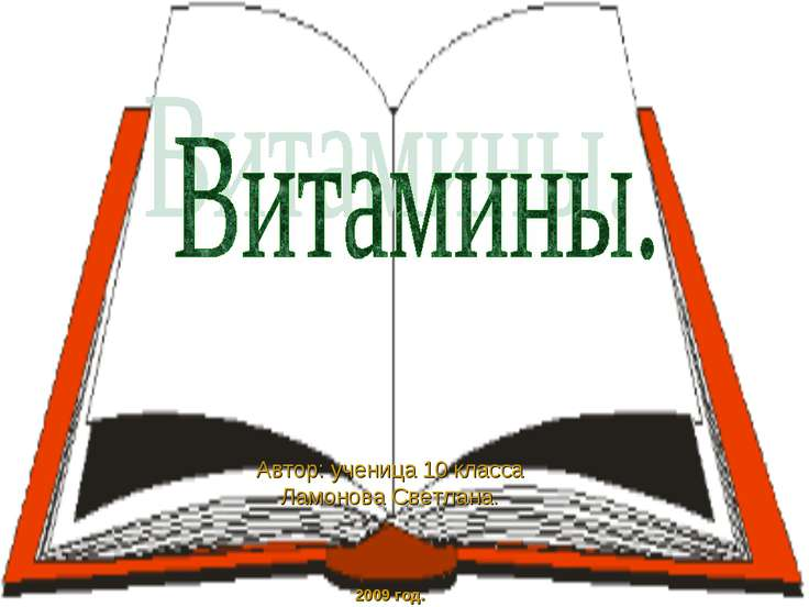 Автор: ученица 10 класса Ламонова Светлана. 2009 год.