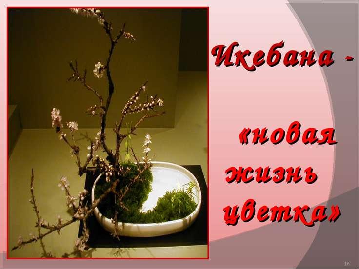 * Икебана - «новая жизнь цветка»