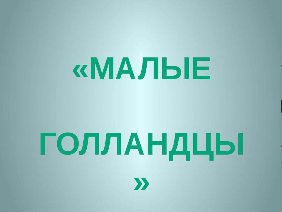 «МАЛЫЕ ГОЛЛАНДЦЫ»