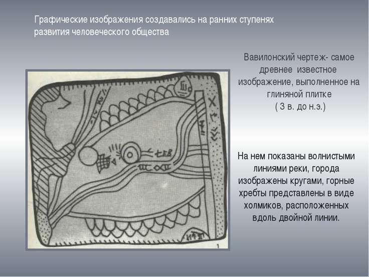 Графические изображения создавались на ранних ступенях развития человеческого...