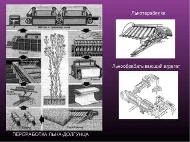 ПЕРЕРАБОТКА ЛЬНА-ДОЛГУНЦА Льнотеребилка Льнообрабатывающий агрегат