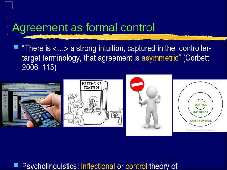 "Agreement as formal control ""There is a strong intuition, captured in the con..."