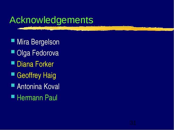 Acknowledgements Mira Bergelson Olga Fedorova Diana Forker Geoffrey Haig Anto...
