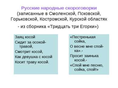 Русские народные скороговорки (записанные в Смоленской, Псковской, Горьковско...
